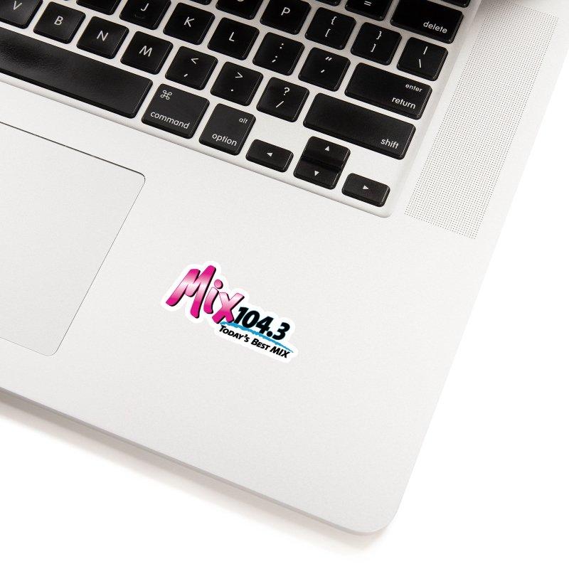 Mix 104.3 Logo Shirt Accessories Sticker by townsquaregrandjunction's Artist Shop