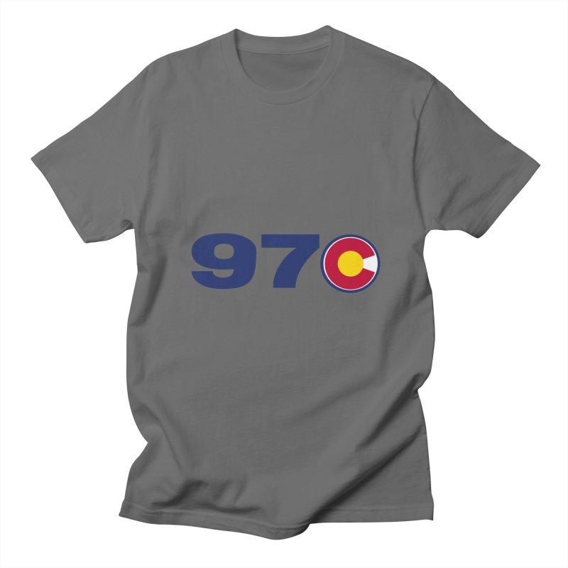 "970 Area Code with Colorado ""C"" Men's T-Shirt by townsquaregrandjunction's Artist Shop"