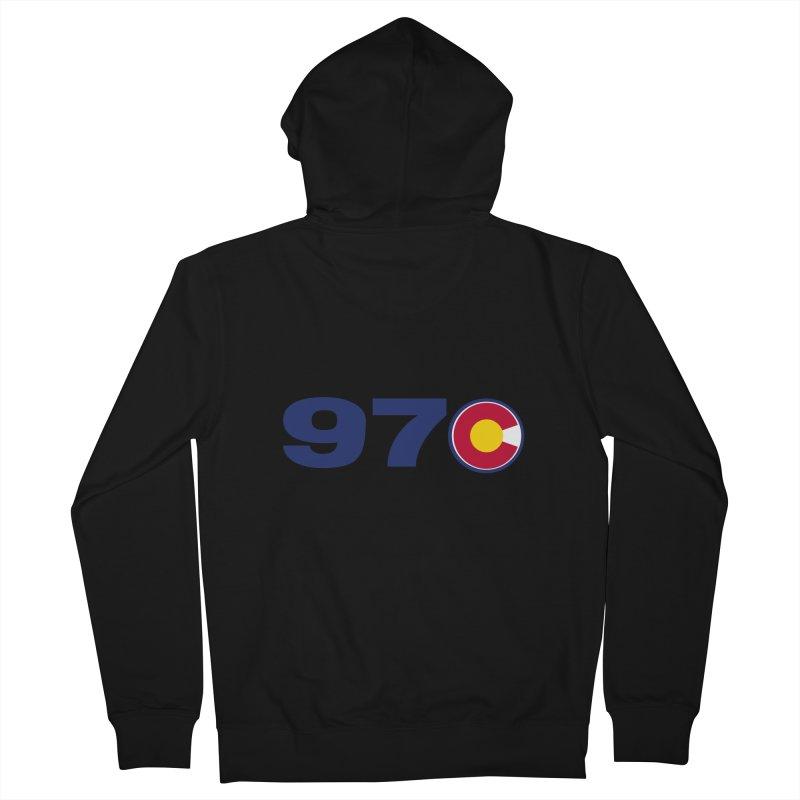 "970 Area Code with Colorado ""C"" Men's Zip-Up Hoody by townsquaregrandjunction's Artist Shop"