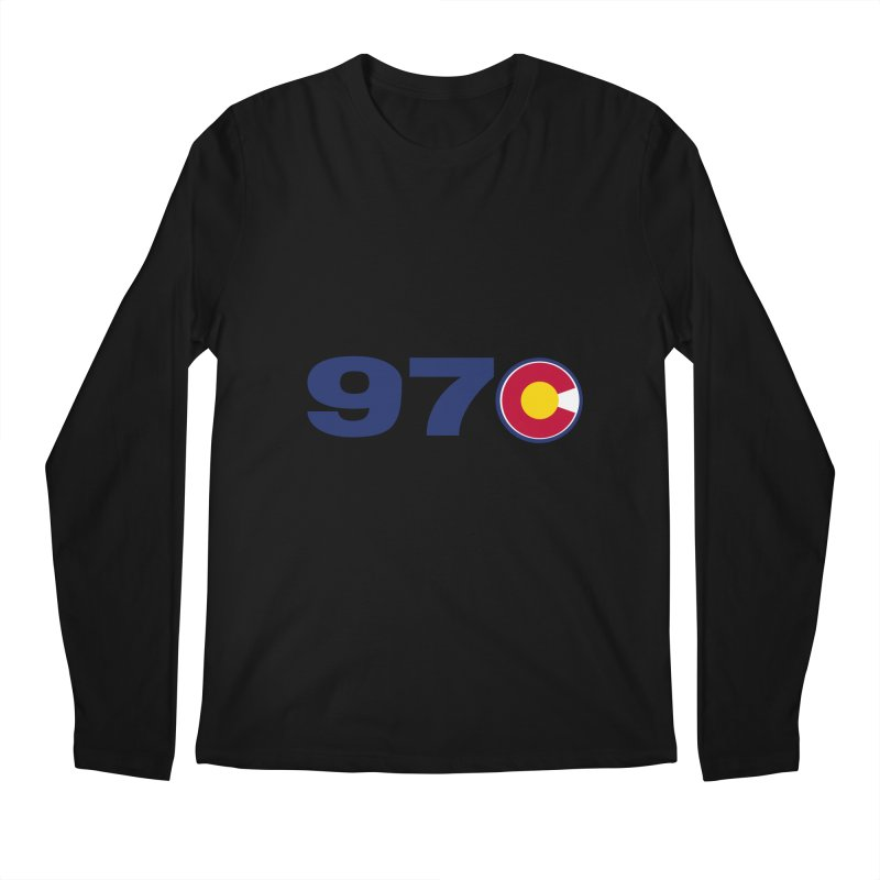 "970 Area Code with Colorado ""C"" Men's Longsleeve T-Shirt by townsquaregrandjunction's Artist Shop"