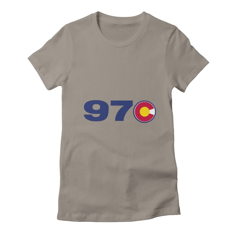 """970 Area Code with Colorado """"C"""" Women's T-Shirt by townsquaregrandjunction's Artist Shop"""