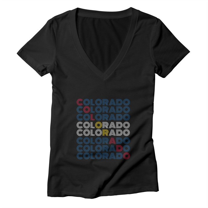 "Colorado ""Repeat"" Shirt Women's V-Neck by townsquaregrandjunction's Artist Shop"