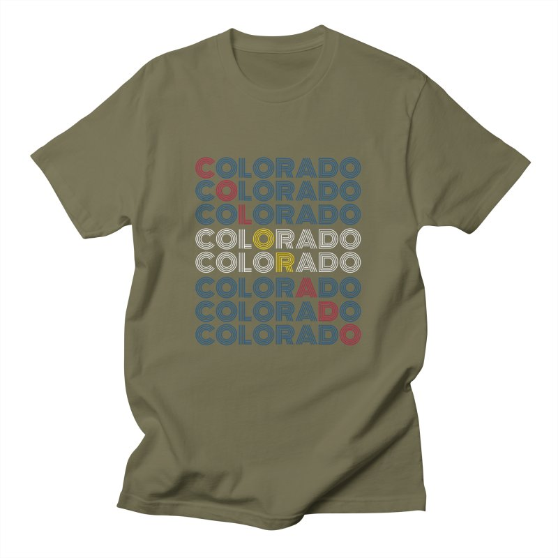 "Colorado ""Repeat"" Shirt Men's T-Shirt by townsquaregrandjunction's Artist Shop"
