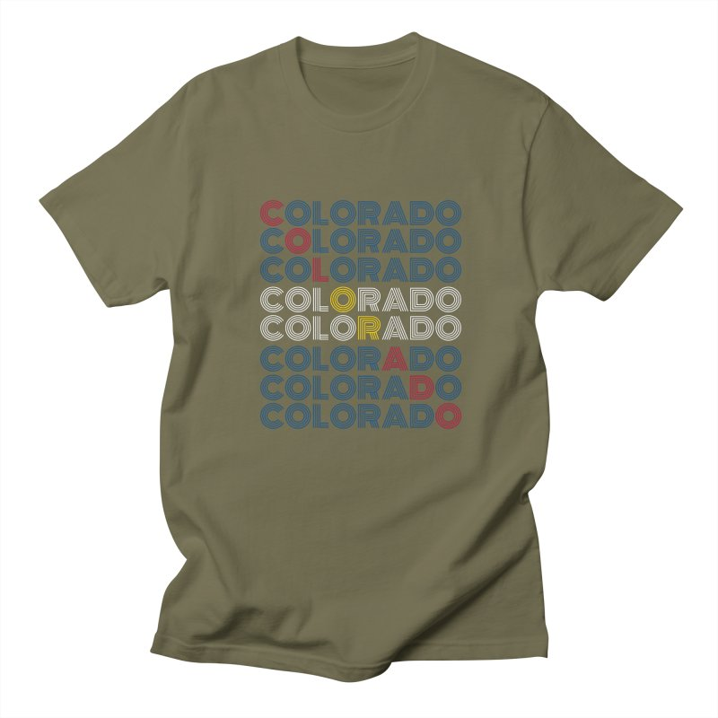 "Colorado ""Repeat"" Shirt Men's T-Shirt by townsquaregrandjunction's Artist Shop"