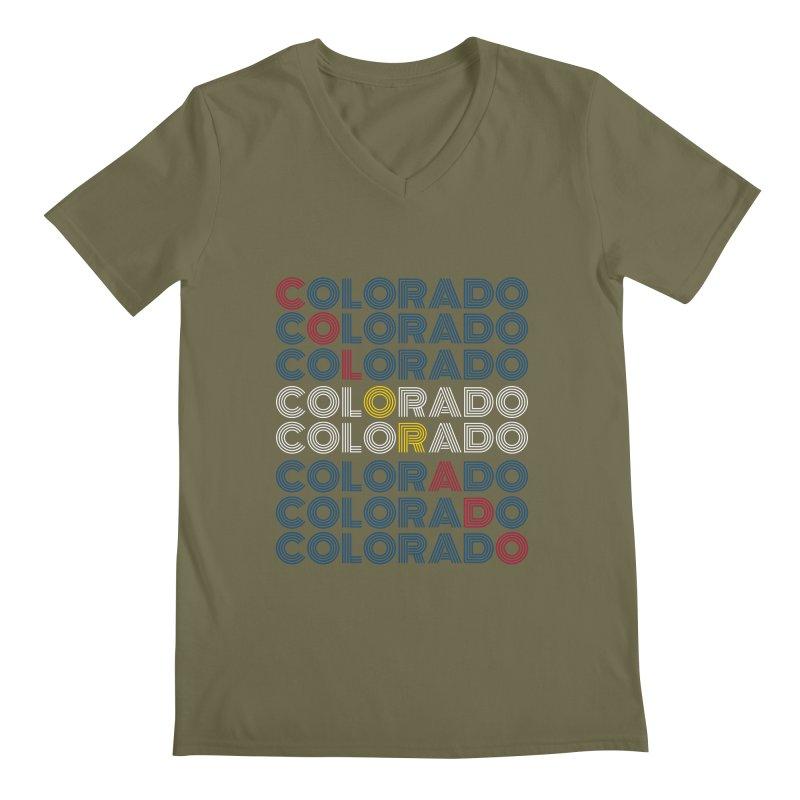 "Colorado ""Repeat"" Shirt Men's V-Neck by townsquaregrandjunction's Artist Shop"
