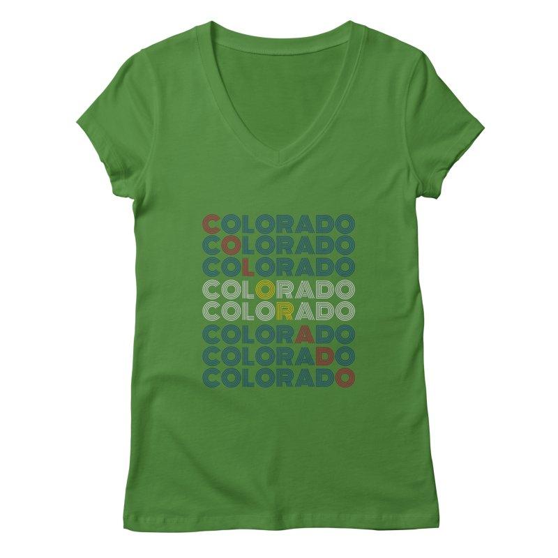 "Colorado ""Repeat"" Shirt Women's V-Neck by townsquaregrandjunction's Artist Shop"