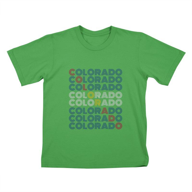 "Colorado ""Repeat"" Shirt Kids T-Shirt by townsquaregrandjunction's Artist Shop"