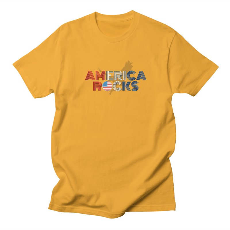 America Rocks Men's T-Shirt by Townsquare Lafayette's Artist Shop