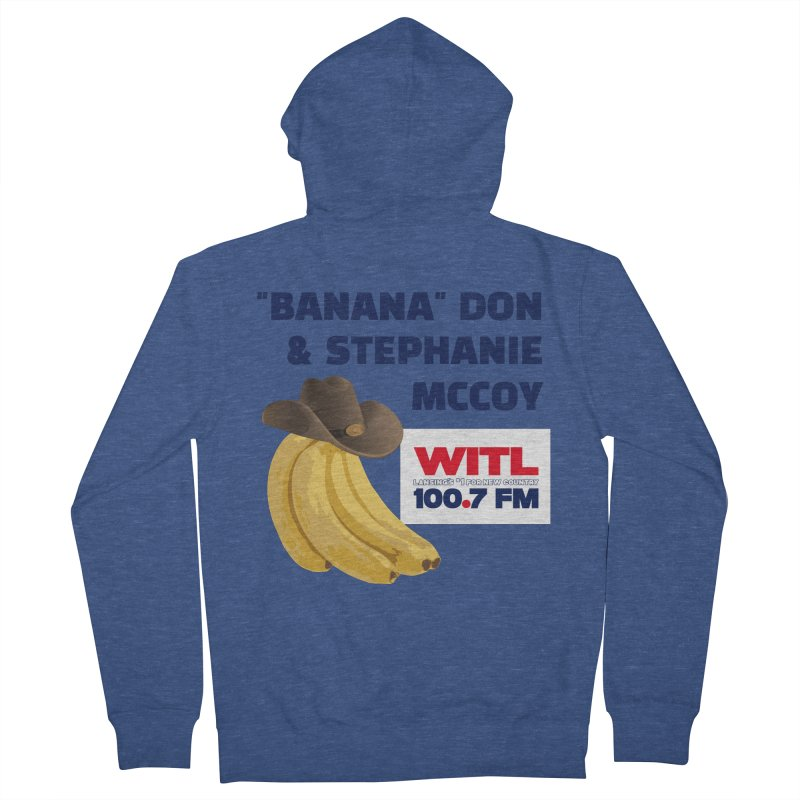 """Banana"" Don & Stephanie Shirt Men's Zip-Up Hoody by Townsquare Lansing's Artist Shop"