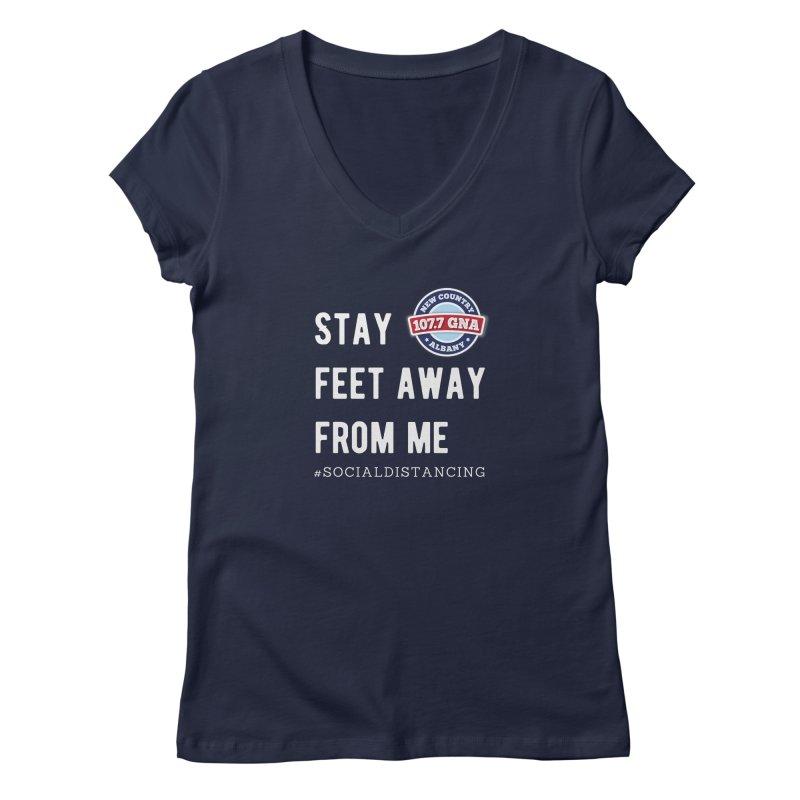 WGNA Social Distancing Shirt Women's V-Neck by Townsquare Merch