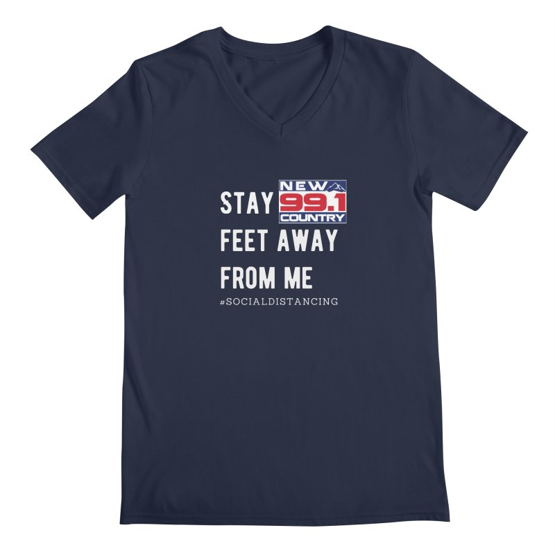 New Country 99.1 Social Distancing Shirt Men's V-Neck by Townsquare Merch