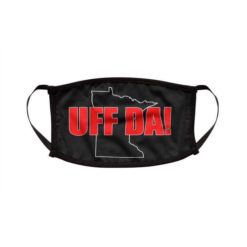 UFF-DA! MASK - Black Accessories Face Mask by Townsquare Rochester's Artist Shop