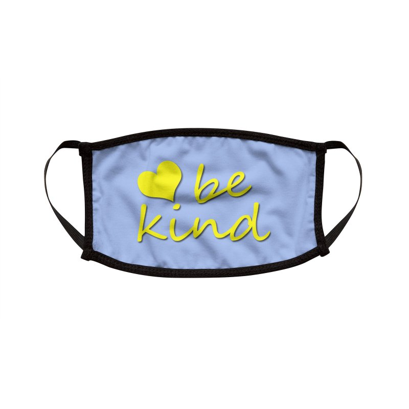 BE KIND - blue Accessories Face Mask by Townsquare Rochester's Artist Shop