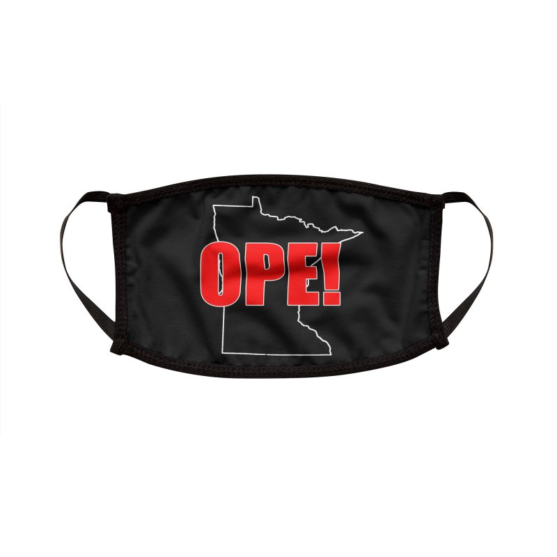 OPE! Mask Black Accessories Face Mask by Townsquare Rochester's Artist Shop