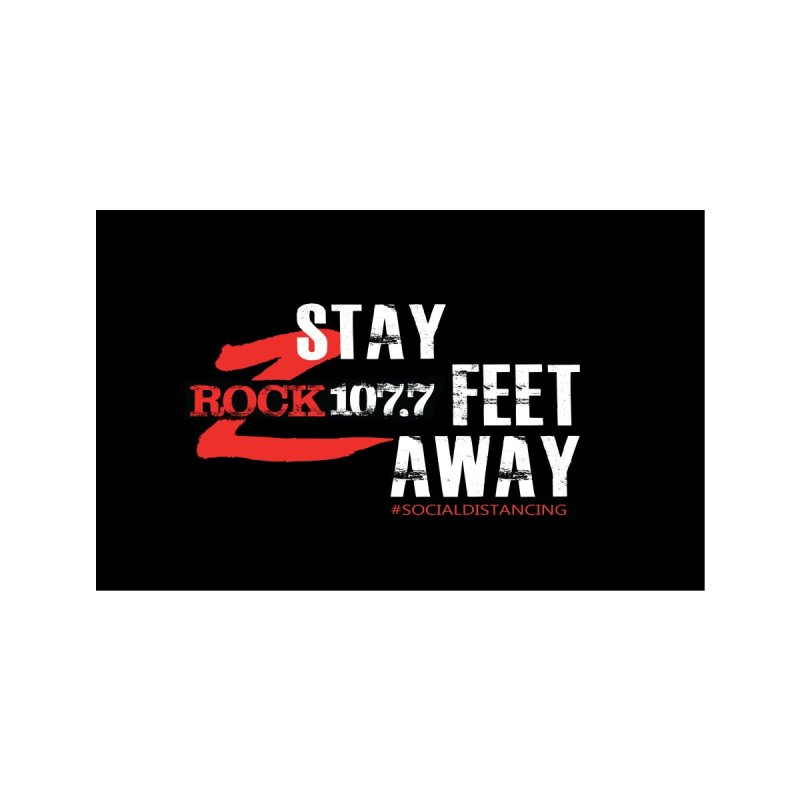 Stay 107.7 Feet Away - Z-Rock Accessories Face Mask by Townsquare Rochester's Artist Shop