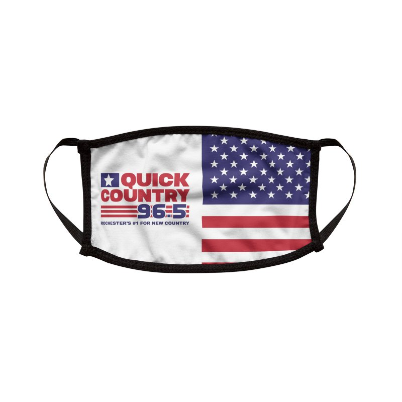 Quick Country American Flag Mask Accessories Face Mask by Townsquare Rochester's Artist Shop