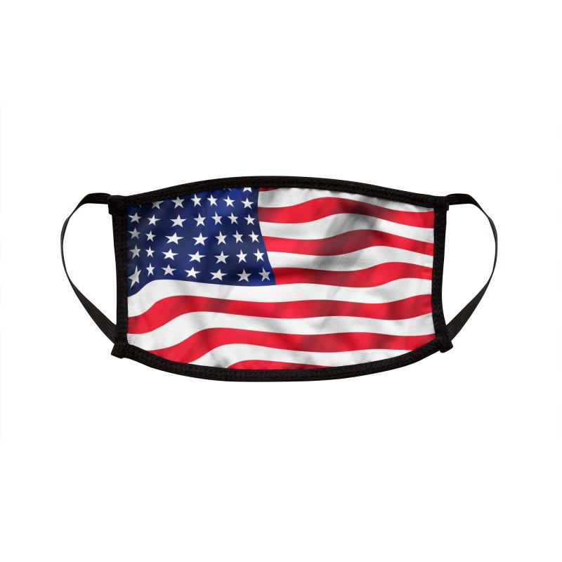 American Flag Mask Accessories Face Mask by Townsquare Rochester's Artist Shop