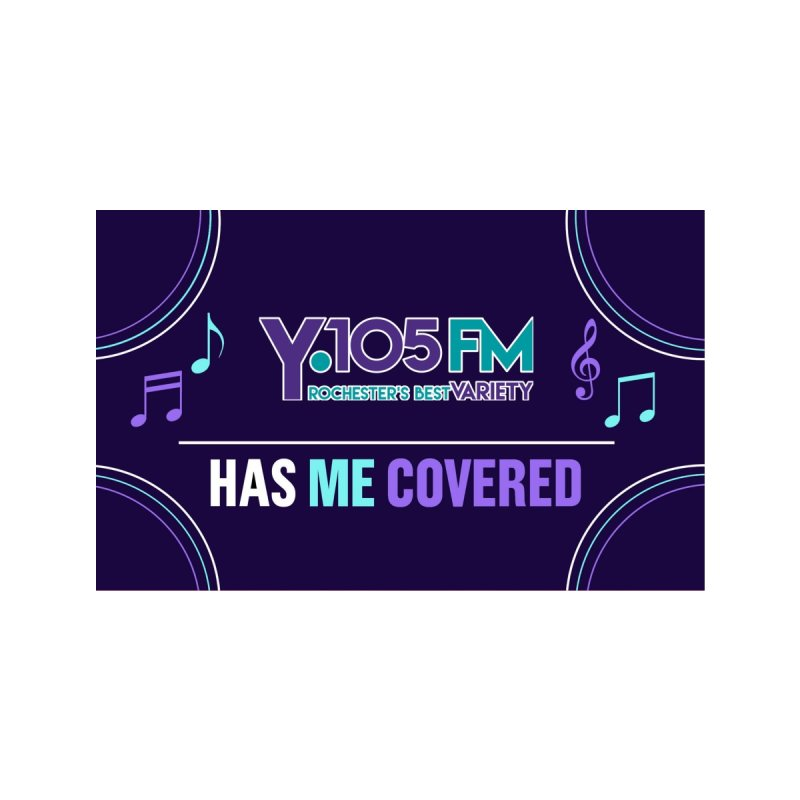 Y105FM Has Me Covered Mask Accessories Face Mask by Townsquare Rochester's Artist Shop