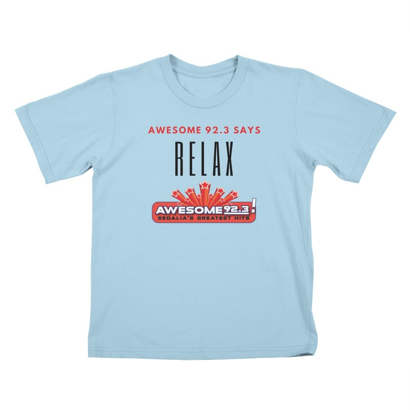 Awesome 92.3 Kids T-Shirt by townsquaresedalia's Artist Shop