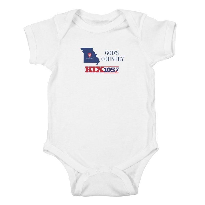KIX - God's Country Kids Baby Bodysuit by townsquaresedalia's Artist Shop