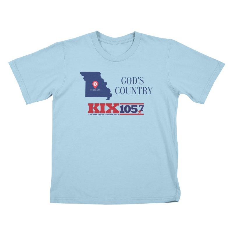 KIX - God's Country Kids T-Shirt by townsquaresedalia's Artist Shop