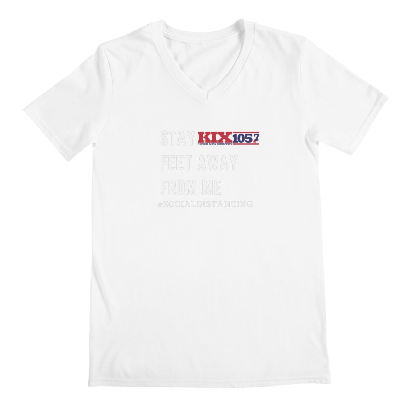 Kix 105.7 Social Distancing Shirt Men's V-Neck by townsquaresedalia's Artist Shop
