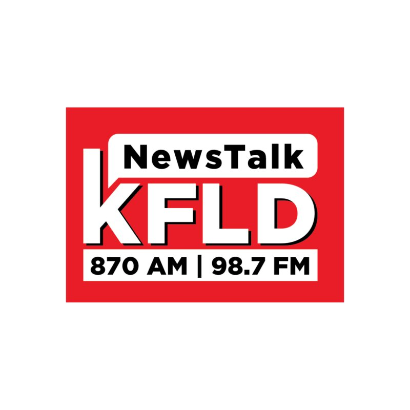 KFLD | Red Squared Accessories Sticker by Townsquare Tri-Cities' Shop