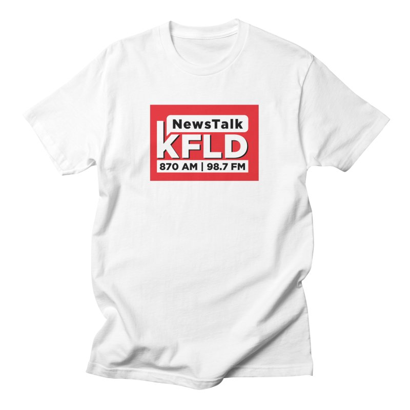 KFLD   Red Squared Men's T-Shirt by Townsquare Tri-Cities' Shop