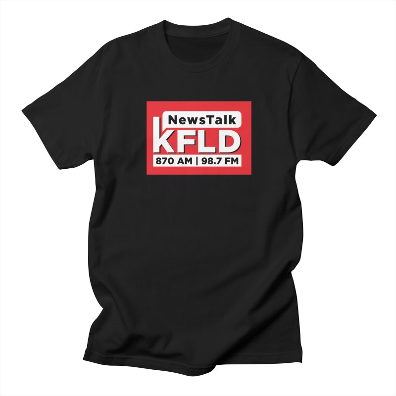 KFLD | Red Squared Men's T-Shirt by Townsquare Tri-Cities' Shop