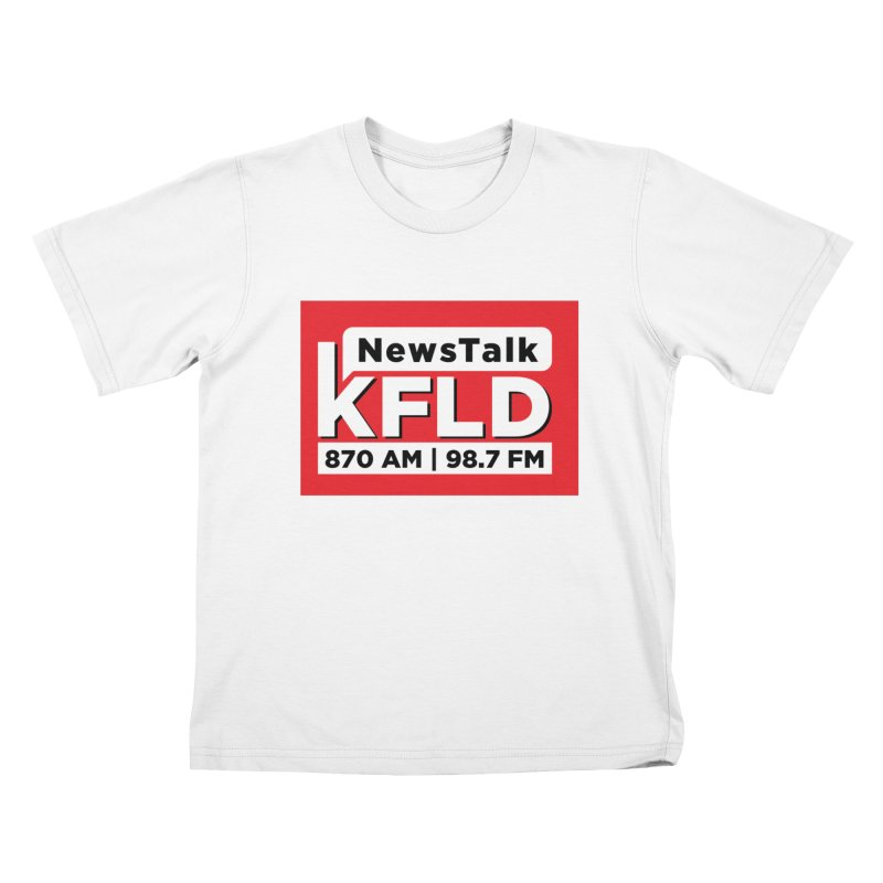 KFLD | Red Squared Kids T-Shirt by Townsquare Tri-Cities' Shop