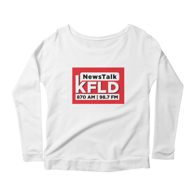 KFLD | Red Squared Women's Longsleeve T-Shirt by Townsquare Tri-Cities' Shop