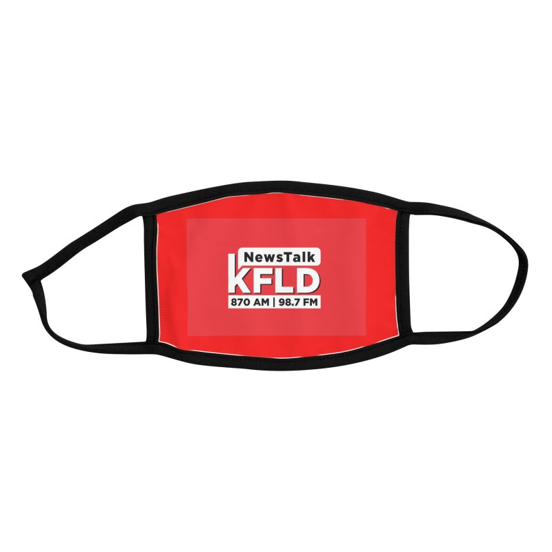 KFLD Face Mask on Red Accessories Face Mask by Townsquare Tri-Cities' Shop