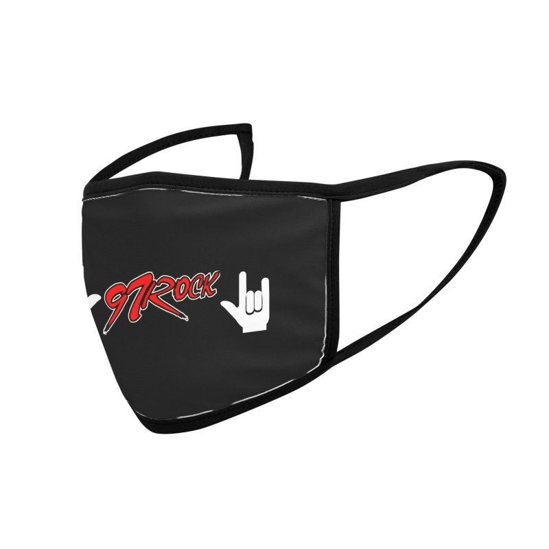 97 Rock 'Rock On' Face Mask Accessories Face Mask by Townsquare Tri-Cities' Shop