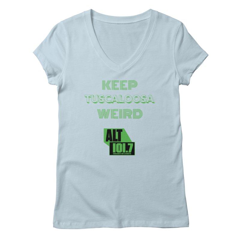 Keep Tuscaloosa Weird - WQRR Women's V-Neck by Townsquare Tuscaloosa's Shop