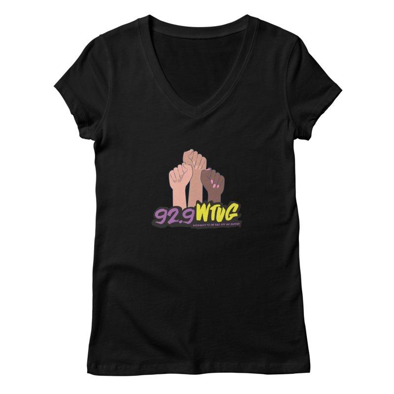 92.9 WTUG 'Black Lives Matter' Shirt Women's V-Neck by Townsquare Tuscaloosa's Shop