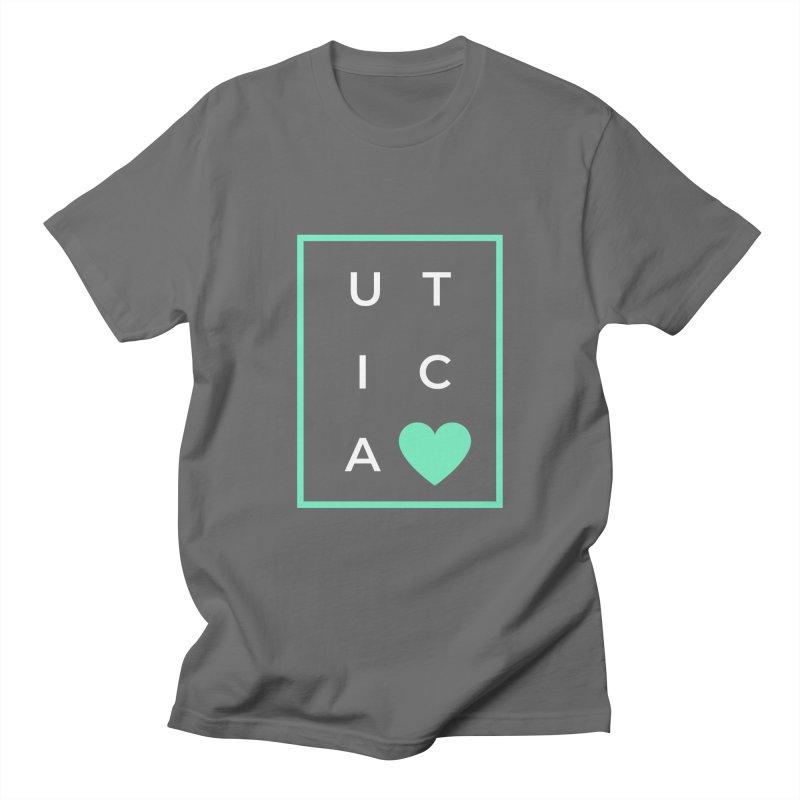 Utica <3 Men's T-Shirt by Townsquare Utica's Artist Shop