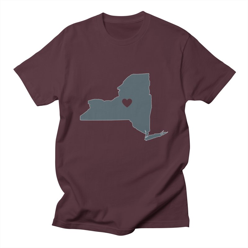 New York State Men's T-Shirt by Townsquare Utica's Artist Shop