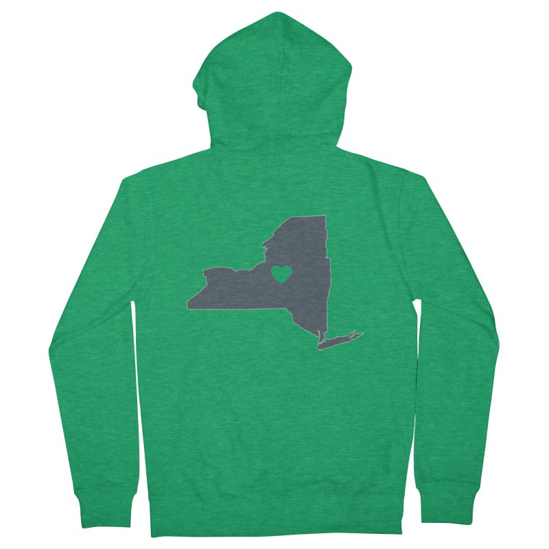 New York State Men's Zip-Up Hoody by Townsquare Utica's Artist Shop