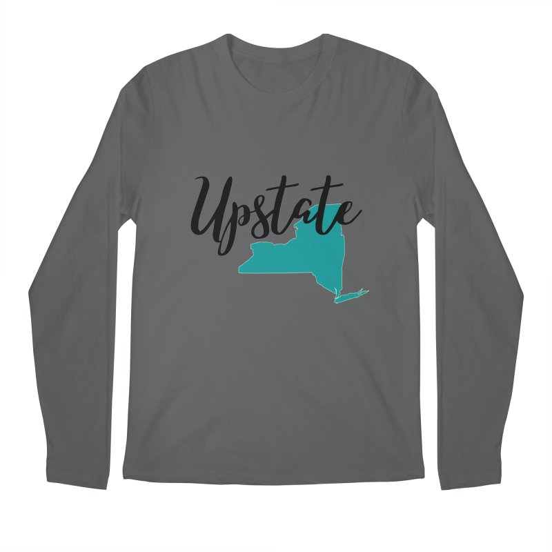 Upstate NY Men's Longsleeve T-Shirt by Townsquare Utica's Artist Shop