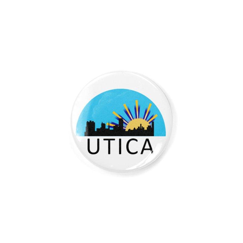 Utica Sign Button Accessories Button by Townsquare Utica's Artist Shop