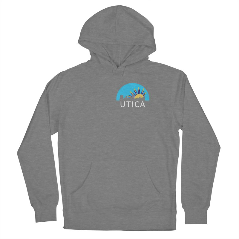 Utica Sign Shirt White Text Women's Pullover Hoody by Townsquare Utica's Artist Shop