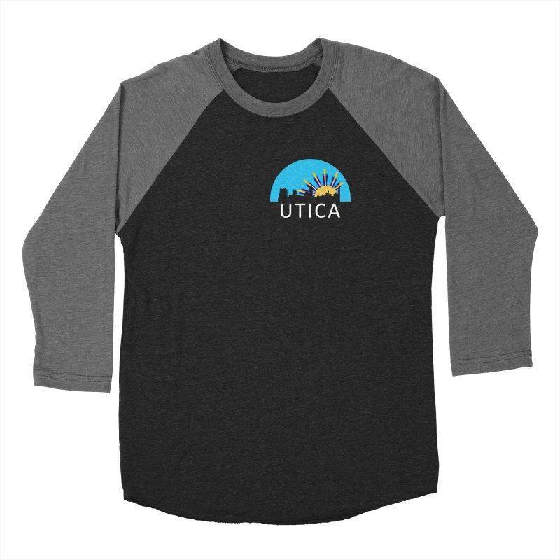 Utica Sign Shirt White Text Women's Longsleeve T-Shirt by Townsquare Utica's Artist Shop
