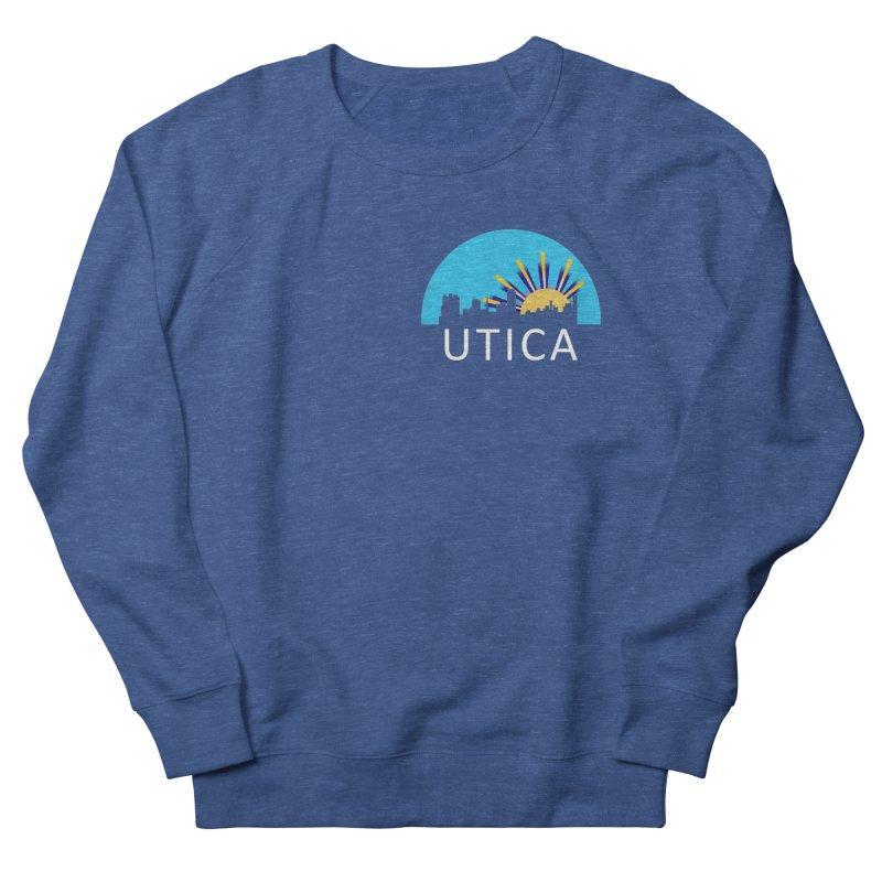 Utica Sign Shirt White Text Women's Sweatshirt by Townsquare Utica's Artist Shop
