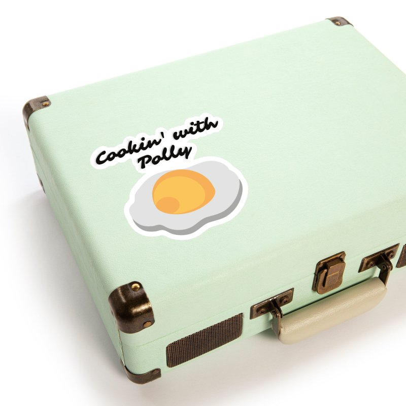 Cooking With Polly Eggs Accessories Sticker by Townsquare Utica's Artist Shop