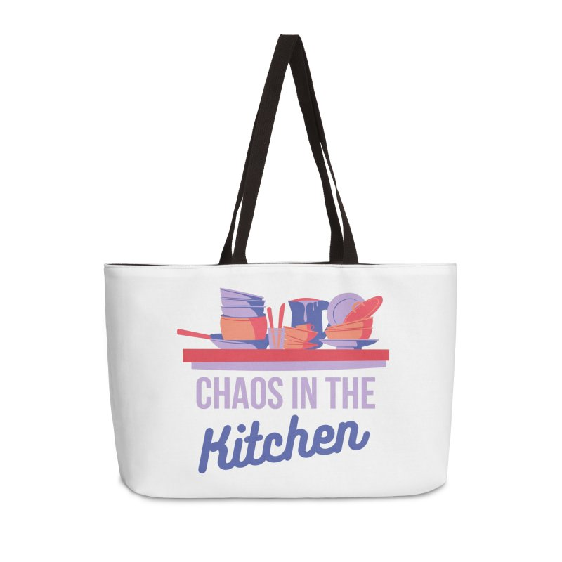 Chaos In The Kitchen Accessories Bag by Townsquare Utica's Artist Shop