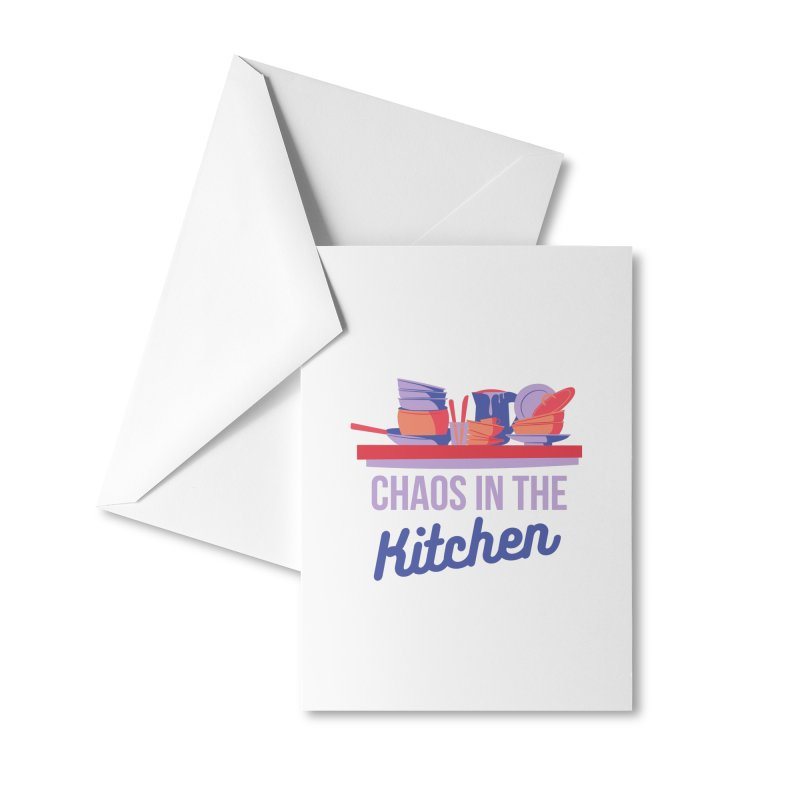 Chaos In The Kitchen Accessories Greeting Card by Townsquare Utica's Artist Shop