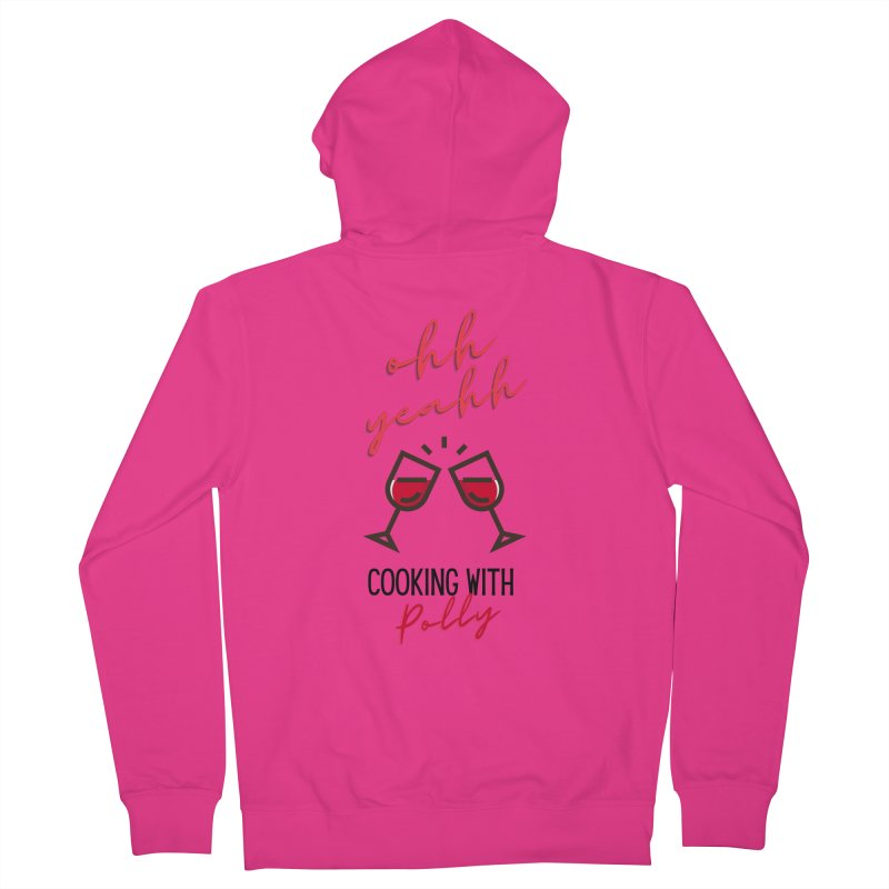 Cooking With Polly Wine Men's Zip-Up Hoody by Townsquare Utica's Artist Shop