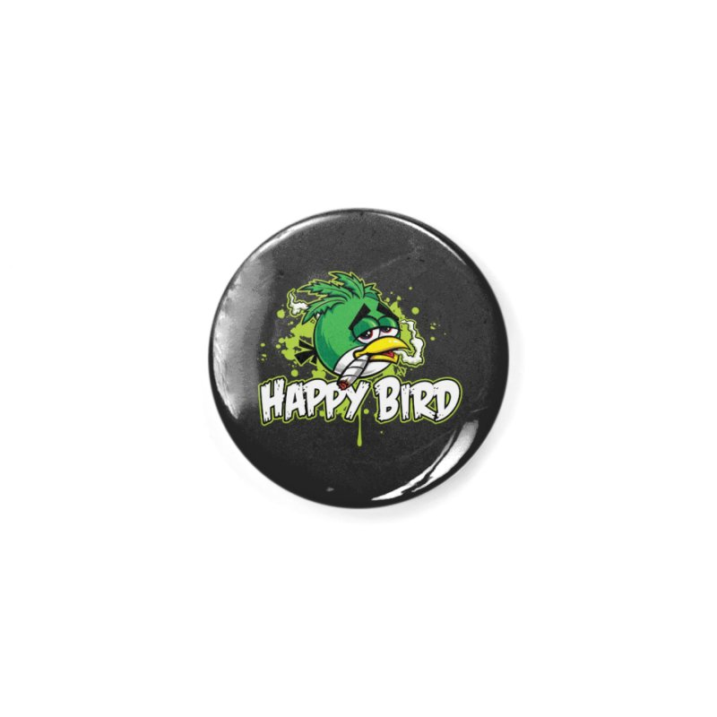 Happy Bird Accessories Button by Toxic Onion