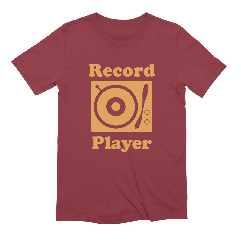 Record Player Men's T-Shirt by Toxic Onion