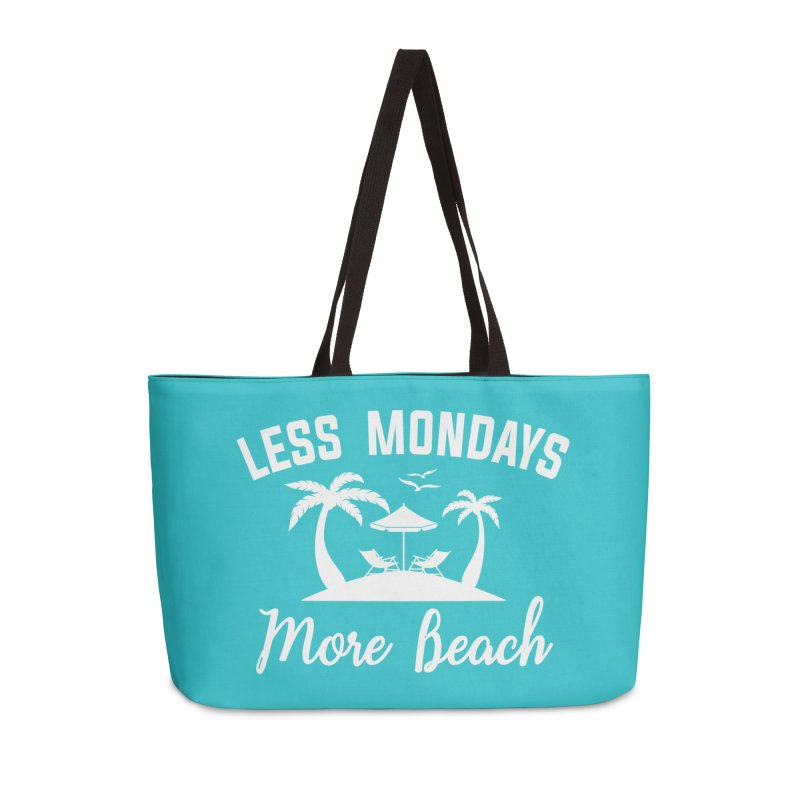 Less Mondays More Beach Accessories Weekender Bag Bag by Toxic Onion
